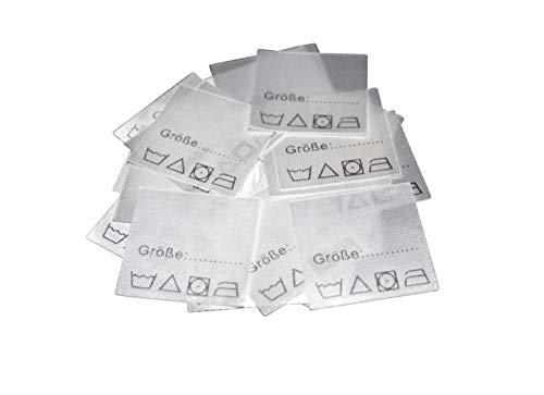 Hödtke Vertrieb 25 Textiletiketten Größe zum selber ausfüllen mit Pflegesymbole