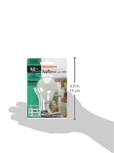 SYLVANIA Home Lighting 10117 Incandescnet Bulb, A15-40W-2850K, Inside Frost Finish, Medium Base, Pack of 1