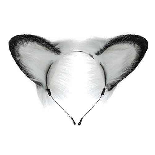 Handgemachte Tierpelzohren Stirnband Haarband Tierkostüm Stirnband für Cosplay Kostüm Weihnachten Elchohren Stirnband Elchohren Stirnband Cosplay realistische Erwachsene Stirnband Bogen Baby Jungen