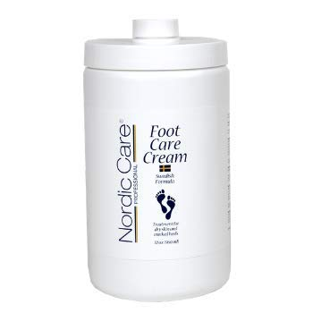 Foot Cream by Nordic Care for dry skin and cracked heels, 32oz with pump