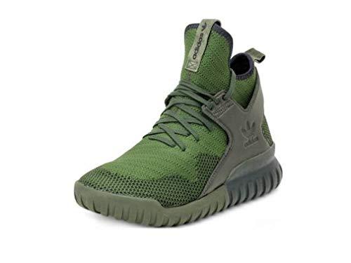 adidas Originals Mens Tubular X PK Knit High Top Sneakers Green 7 Medium (D)