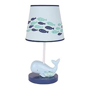 Lambs & Ivy Oceania Blue Ocean/Sea/Nautical Nursery Lamp with Shade & Bulb