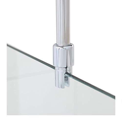 Stabilisationsstange für Duschen, Haltestange Glas - Decke, Stabilisierungsstange Duschwand, Stabilisator (Chrom)