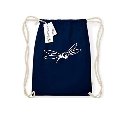 Shirtstown Gymsack, Funny Tiere Mücke Stechmücke, Bio Fairtrade, Sprüche Spruch Logo Motiv, Turnbeutel Tasche Sport Beutel, Farbe Blau