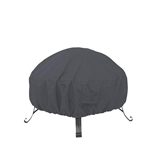 Covolo Fire Pit Cover Round Gas firepit Cover Outdoor Heavy Duty Kettle Cover Fireplace Cover Grill Cover, Durable Water Resistant, Lightweight, Eco-Friendly Furniture Cover 32x14 inch