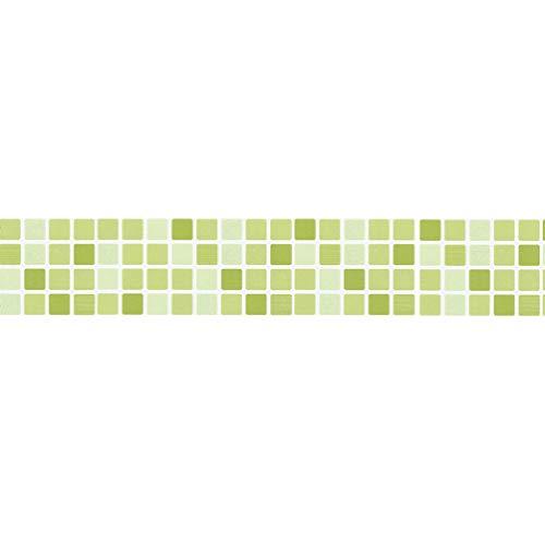 Angoily Adhesivos para Azulejos de Pelar Y Pegar Mosaico 39.4 X 3. 7 Pulgadas Calcomanía de Piso Autoadhesiva Impermeable para El Baño de La Cocina Backsplash (Color 1)