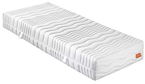 sleepling 7- Zonen Kaltschaummatratze Wendematratze Bodyprotect 500 Duo Härtegrad 2 & 3 120 x 200 x 21 cm, weiß