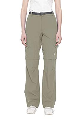 Little Donkey Andy Women's Stretch Convertible Pants Zip-Off Quick Dry Hiking Pants Silver Sage Size XXL
