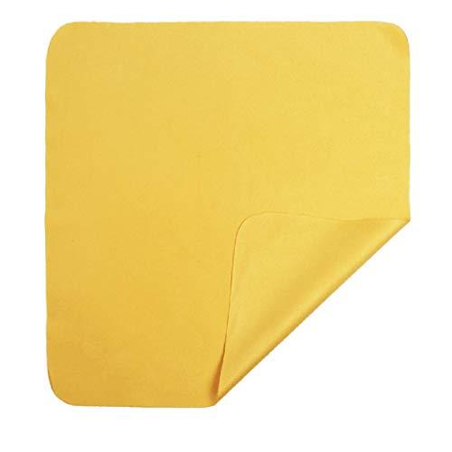 Xniral 10stk Brillenstoff Samt Handy Bildschirm Reinigungstuch 15 × 18cm(Gelb)