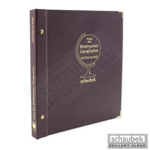 Schaubek Briefmarkengeographie Briefmarken-Geographie Atlas Deutschland A-DES