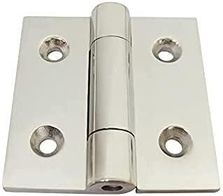 Bisagra de puerta 316 Bisagra plana de acero inoxidable 8pcs for bisagras de servicio pesado for maquinaria y equipo 65x65x5.0mm