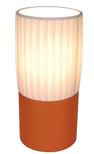 Naeve Leuchten Deko-Tischleuchte / 1xE14 / 40W / SK2 / 230V / 50Hz / exklusiv Leuchtmittel/h: 22 cm/d: 10 cm/Holz/Folie/orange/weiß 342198