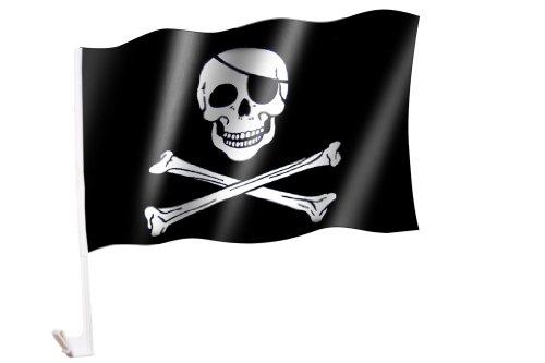 Autoflagge/Autofahne Pirat/Totenkopf/Skull/Piratenflagge