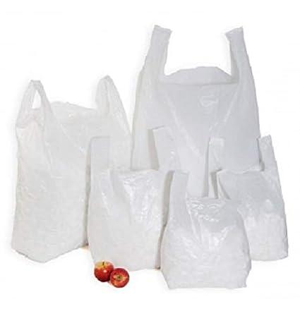 "500 XXLarge Plastic Vest Carrier Bags 13/""x19/""x23 Approx."