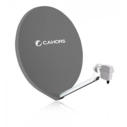 Cahors Parabole Satellite Fibre Composite Gris...
