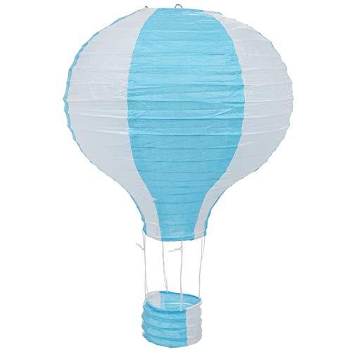 Cuasting - Lámpara de techo (30,5 cm), diseño de globo aerostático, color azul