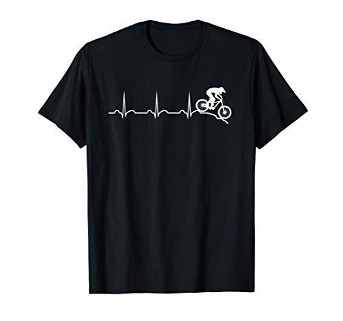 Latido del corazón en bicicleta de montaña cuesta abajo Camiseta