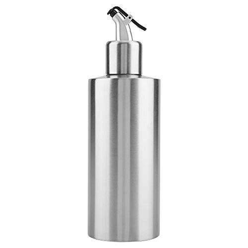 550 ML Dispensador de aceite Botella de aceite de acero inoxidable Vinagre Salsa Dispensador Contenedor Aceite Pot para uso de la cocina(b)