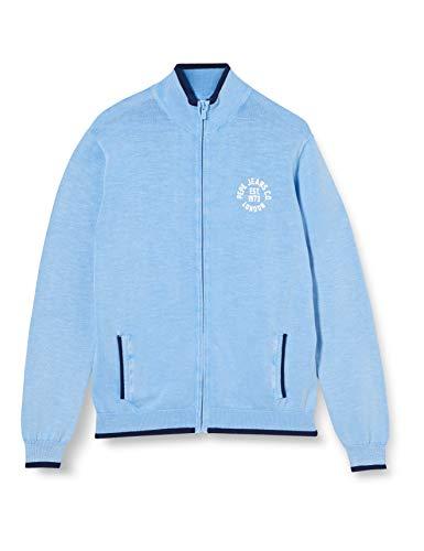 Pepe Jeans Carson Cardigan, Blu (525azure Blue 525), 10-11 Anni (Taglia Produttore: 10) Bambino