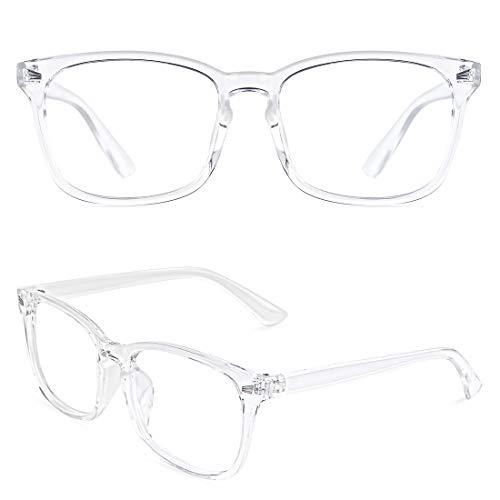 Slocyclub Vintage Nerd Square Eyeglasses Frame Keyhole Design Non Prescription Lens Glasses for Women Men
