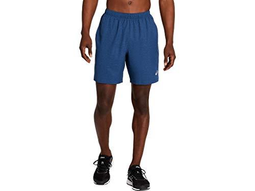 ASICS Men's 7In 2 in 1 Short Running Clothes, S, Grand Shark Heather