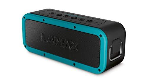 Bluetooth Lautsprecher 5.0, LAMAX Storm1 40W Tragbarer Kabelloser Lautsprecher mit IP67 Wasserdicht, 3 Musikmodi, Batterie bis zu 15 Stunden, USB-C, NFC, 3,5 mm Jack sowie MicroSD