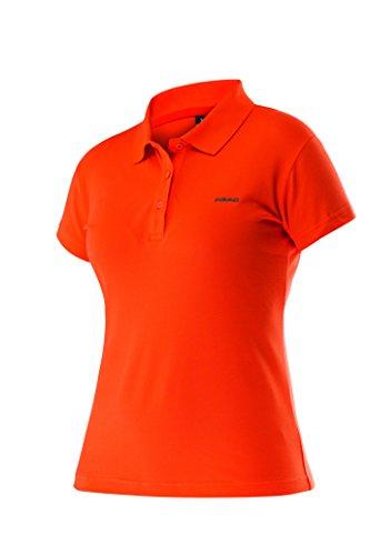 HEAD Women'Mary s Polo Shirt Orange Cora/Anthracite S