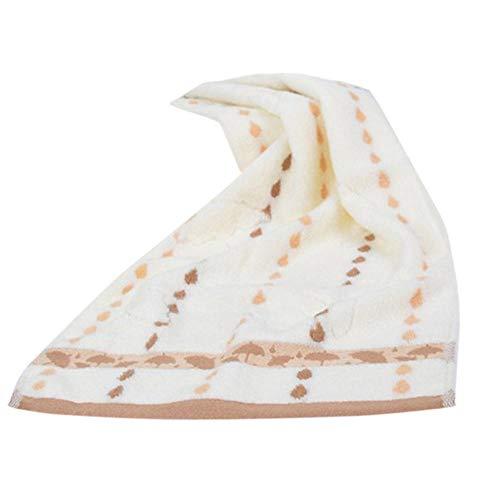 AnnChuXia Asciugamano di Ouneed Asciugamano Morbido Super Assorbente Bagno in Cotone Parola Asciugamano da Bagno Rondelle Viso Asciugamani in Stoffa 33x74 cm-Giallo