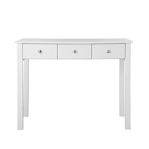 Furniture To Go Dressing table/Desk 3 Drawers White, Wood