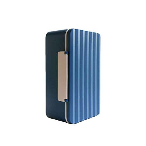 HUOLEO 900M Prueba De Fugas Fiambrera Adulto,Hermético Contenedor para Alimentos Ola Trae Vajilla Caja De Almuerzo para Microondas Lavavajillas-Azul