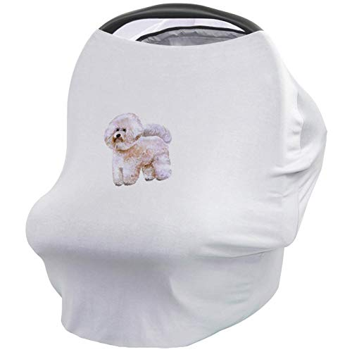 Find Bargain Dog Lover Decor Nursing Cover for Baby Breastfeeding, Soft Breathable Stretchy Carseat ...