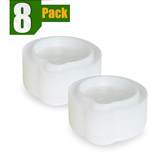 ASPECTEK, Weiß Bettwanzenfalle Insektenabfanger, 8 Stück, 8 Pack