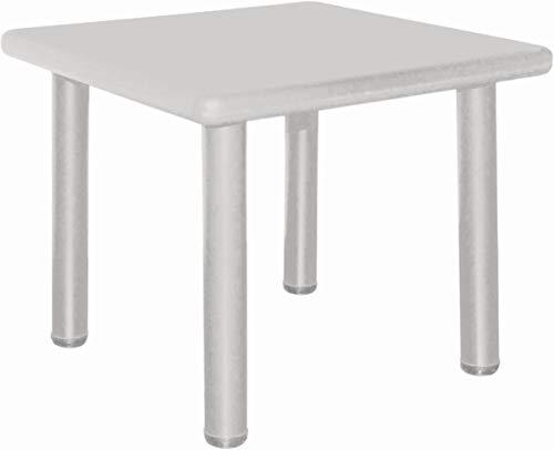 Bieco Kindertisch, Design: Eisgrau | Tisch für Kinder 1-8 Jahre | Kinder Tisch ca. 62x 62x 52 cm, Höhenverstellbar | Maltisch für Kinder, Gartentisch, Kinderzimmertisch | Tisch Kinder-Schreibtisch