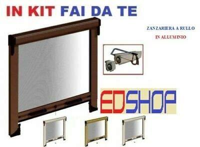 Mosquitera enrollable reducible kit ventana kit mosquitera medidas 60 x 150 160 x 170 con embrague, 160X170 MARRON, 1