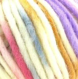 Lana Grossa - Feltro Snow - Fb. 453 rohweiß/erika/beige/grau/senf/violett 50 g