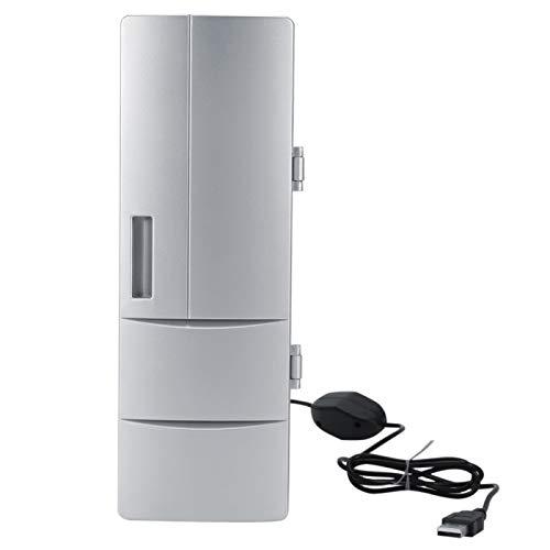 Mini refrigerador Mini refrigerador ABS Refrigerador pequeño portátil con diseño de fuente de alimentación USB para poner bebidas enlatadas
