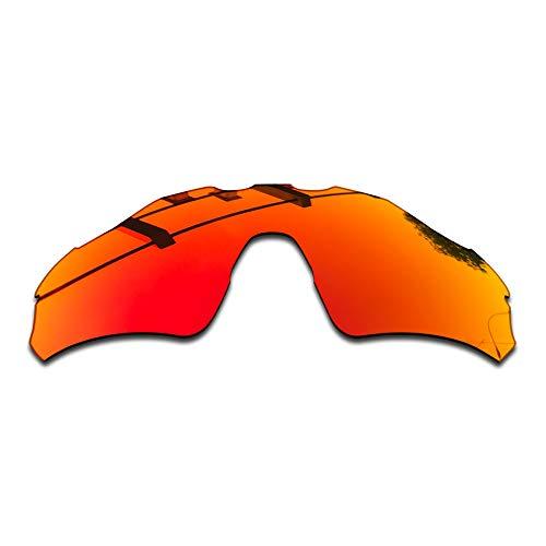 SEEABLE Premium Polarized Mirror Replacement Lenses for Oakley Radar EV Path XS OJ9001 Sunglasses - Fire Orange Mirror