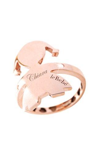 lebebè Anillo Abbracci de oro rosa y diamantes naturales con forro de corazones