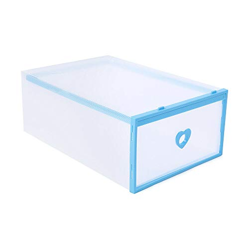 Cajas para zapatos de cartón, 20 unidades, almacenamiento de zapatos, cajas para zapatos, cajas para zapatos y para guardar juguetes, material de plástico, protegen contra el polvo y la humedad