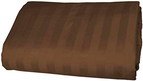American Pillowcase 100% Egyptian Cotton Luxury Striped 540 Thread Count Fitted Sheet - Twin XL, Chocolate
