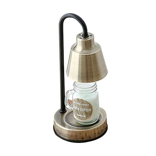 GYH Lámpara de Cera de Fusión Lámpara de Aromaterapia Creativa Fragancia de Fusión Luz Cálida Lámpara de Vela Lámparas Y Linternas Nórdicas Luz de Noche Decoración de Lámpara de Mesa (Color : Bronze)