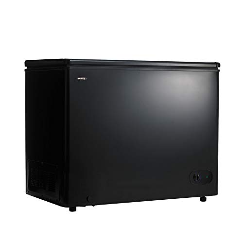 Danby DCF072A3BDB 7.2 Cubic Feet Large Sized Upright Freezer Storage Chest with Manual Defrost for Kitchen, Basement, or Garage, Black