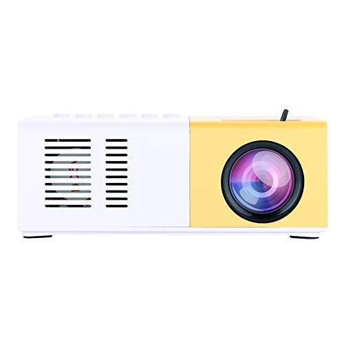 Mini Stijlvolle Home Projector Ondersteuning 1080P HD-weergave, HDMI VGA Multimedia Player Home Theater LED draagbare projector met afstandsbediening(EU-stekker)
