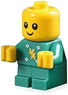 LEGO Holiday Baby Minifigure (with Moose and Snowflakes Onsie) 10263 Cute!