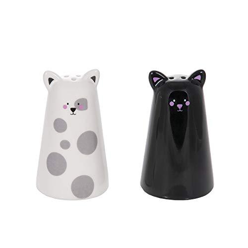 Salz- und Pfefferstreuer Schwarz und weiß Katze Geschenk für Katzenliebhaber