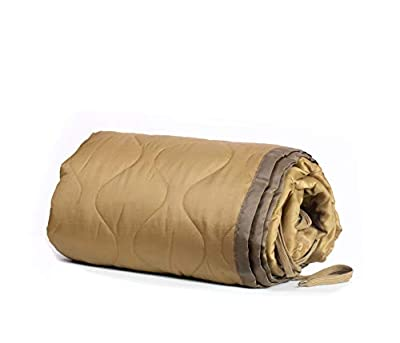 Farm Blue Tactical Camping Military Blanket - Woobie Poncho Liner - Lightweight Multifunctional All Weather Blanket Perfect for Camping Backpacking and Other Outdoor Activities - Coyote