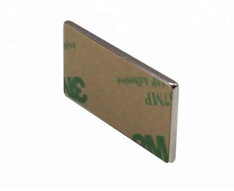 20 Stück selbstklebende Neodym Magnete N45 Rechteck 40x12x1 mm (10 Paare)
