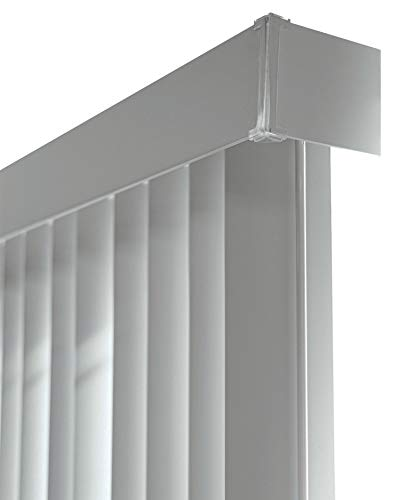 "CHICOLOGY Cordless Vertical Blinds Patio Door or Large Window Shade, 78"" W X 84"" H, Oxford Gray Vinyl"