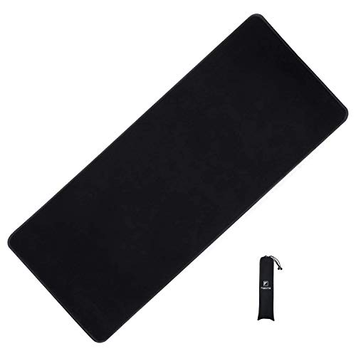 FORITO Large High Precise Gaming Mouse Pad/Maximize to Enhances Control & Speed of The Mice/No-Slip Base/Extends The Battery Life of Wireless Mice -Large Black