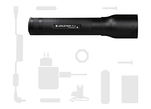 Ledlenser Led Lenser Zweibrüder P14 Professional LED Torch (Black) -Gift Box, 500901, charcoal, 19.8 x 4.7 x 4.7 cm 4